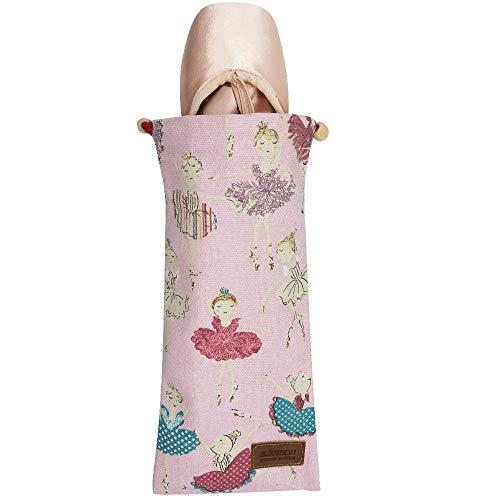 s.lemon 100% Algodón Respirable Bolso de Zapatos de Punta Zapatillas de Ballet Baile con Cordón Hecha a Mano para Niñas Niños Mujeres (Princesa Rosa)