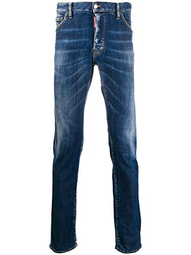 DSQUARED2 Luxury Fashion Uomo S71LB0733S30685470 Blu Cotone Jeans | Stagione Outlet