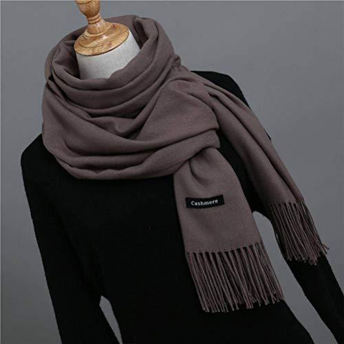 SLI-sjaal Effen kleur Imitatie Cashmere sjaal Vrouwelijke Monochroom Mode Wild Warm Sjaal Kwastje Rode Sjaal Winter Bib, Camel as, 200 * 70cm