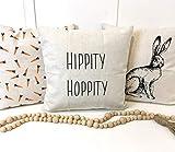 None-brands Fundas de almohada decorativas suaves fundas de almohada Hippity Hoppity Rae Dunn inspirado - Funda de almohada para coche, sofá, cama, sofá, hogar, decoración de Navidad