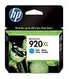 HP 920XL Cartouche d'Encre Cyan Grande Capacité Authentique pour HP OfficeJet...
