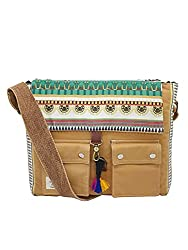 The House of tara Women's Messenger Bag (HTMB 014_Khaki),The House of Tara,HTMB 014