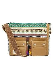 The House of tara Women's Messenger Bag (HTMB 014_Khaki),The House of Tara,HTMB 014