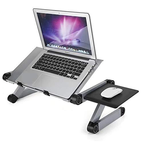 WSJTT Portable Adjustable Aluminum Laptop Desk Stand Table Vented Ergonomic TV Bed laptop stand Working Office