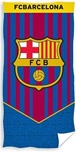 FC Barcelona - Toalla de playa (140 x 70 cm, 100 % algodón, Öko-Tex FC Barcelona)