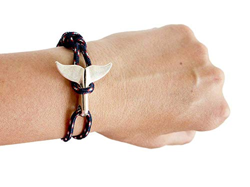 Whale Tail Bracelet Men Anklet Charm Jewelry Expandable Rope Adjustable String Blue Cuff Surf Summer