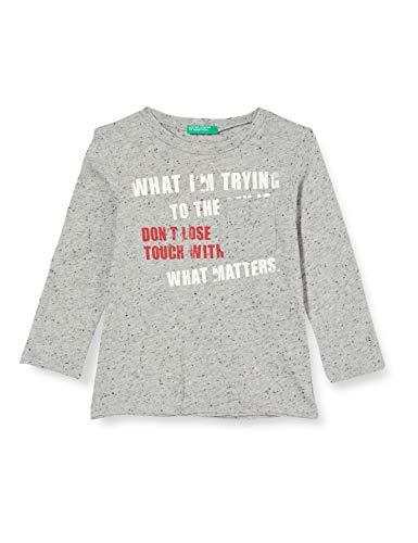 United Colors of Benetton Baby-Jungen T-Shirt M/l Langarmshirt, Grau (Grigio 901), 86/92 (Herstellergröße: 2y)