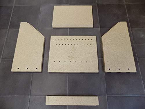Feuerraumauskleidung für Heta Scan-Line 7 Kaminöfen - Vermiculite - 5-teilig
