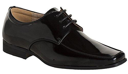 Paisley of London - Zapatos de vestir de charol para chicos - Charol negro, Sintético, 29