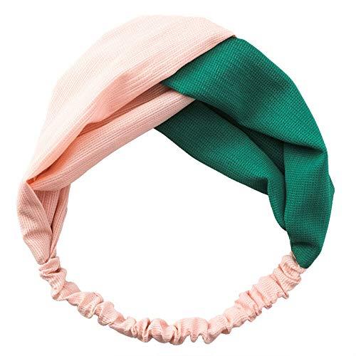 MOPOLIS New Fashion Women Turban Twist Knot Head Wrap Headband Twisted Knotted Hair Band | Color - Orange + Green