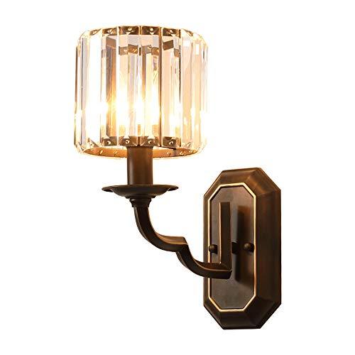 T ECH US Wandleuchte, Kristall-Lampe Wohnzimmer Einfache Atmosphärische Schlafzimmer Nachttischlampe Gang Wandleuchten TV Kulisse