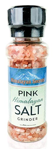 Pink Himalayan Cooking Salt in Refillable Grinder