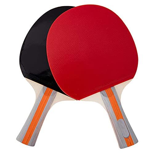 GEREP Juego de Raquetas de Ping Pong con dos raquetas,Raquetas de Tenis de Mesa para 2 jugadores, para actividades familiares, club deportivo escolar Raquetas de Ping Pong, principiantes, gran re