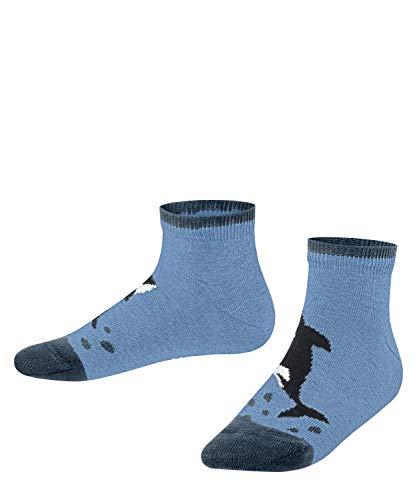 FALKE Jungen Orca Sneakersocken, blau (Cornflower Blue 6554), 27-30