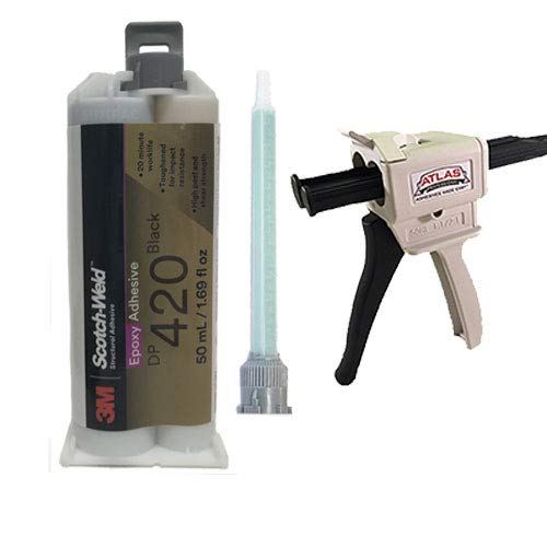 3M ScotchWeld DP420 Black 20-Minute Toughened Epoxy Adhesive Dispenser Kit (50ml/1.7oz w/Dispenser)