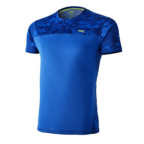 42K Running - Camiseta técnica 42K MIMET Hombre Electric Blue Camouflage L