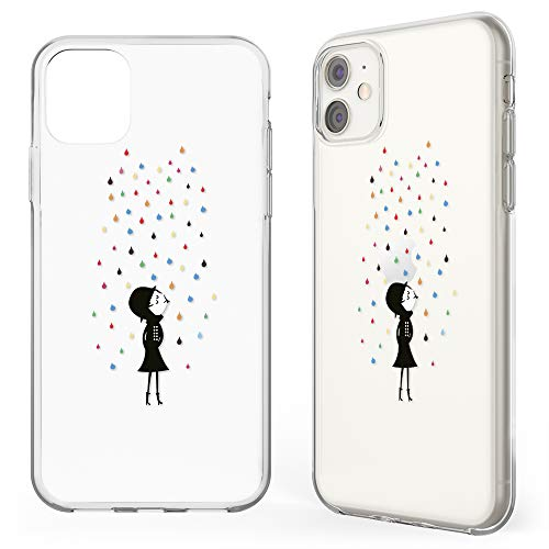 NALIA Motiv Hülle kompatibel mit iPhone 11, Design Case Silikon Schutzhülle Cover Handy-Tasche Dünn, Ultra Slim Bumper Muster Handyhülle Soft Backcover Phone Schutz, Motiv:Colorful Rain