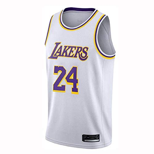 HANHJ Heren Ms. NBA Lakers 24 # Kobe Bryant Jerseys Basketbal Shirt Ademende Mesh Leotards Basketbal Uniform Borduurwerk Tops Basketbal pak