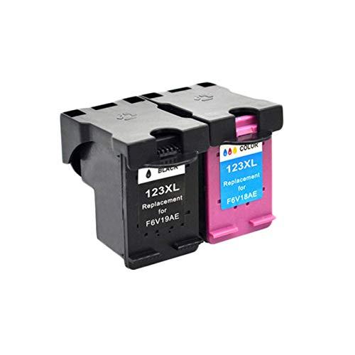 DYYPPWW Compatible 123XL Cartucho de Tinta, Alto Volumen de Impresión Reemplazo,para HP Deskjet 1110 2130 2132 2133 Impresora,4colors,New B