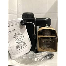 Krups model 963 black espresso / cappuccino maker 4 cup steam 1 can brew up to 4 cups of espresso directly into glass carafe detachable overflow grid for easy cleaning cup adapter allows you to brew directly into two cups at once