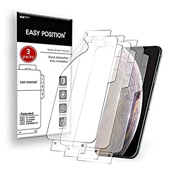 Easy Position Screen Protector  3-packs  iPhone SE 2020 with Home Button CLEAR Flexible Film Shock Resistance Curved Edges Covered Case Friendly Easy Installation