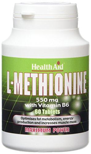 HealthAid L-Methionine 550mg - 60 Tablets