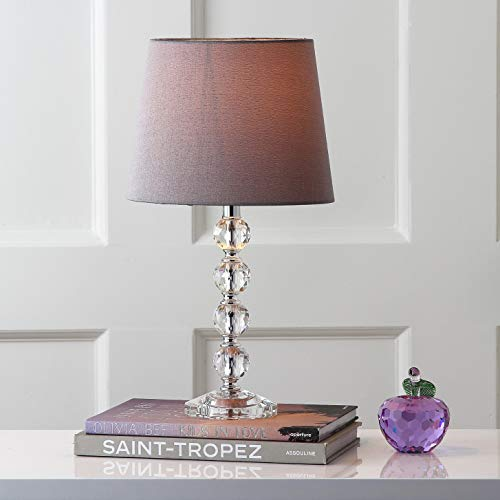 Safavieh Lighting Collection Nola Stacked Crystal Ball 16inch Table Lamp Set of 2