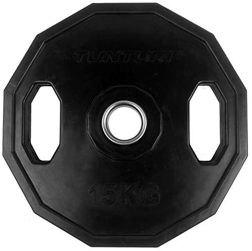 Tunturi Weight Plates Disco Olímpico Goma, Unisex Adulto, Black, 1