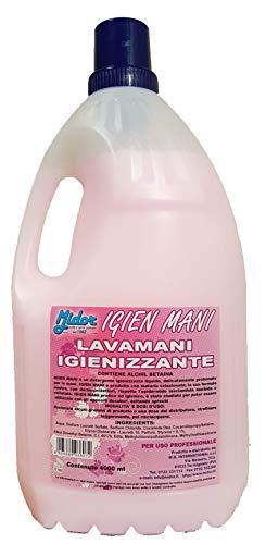 Midor Sapone Mani igienizzante Liquido IGIEN Mani 4kg con dermoprotettori, Delicato, Mani morbide e profumate 4000ml