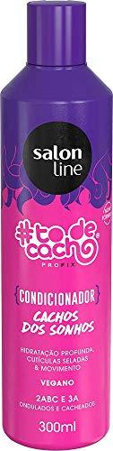Condicionador #todecacho Cachos Dos Sonhos Xô Ressecamento, 300ml, Salon Line, Salon Line, Branco, 300ml
