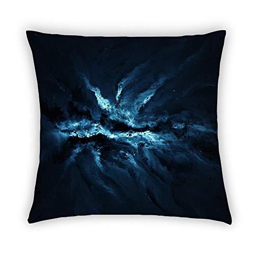 Funda de cojín BYRON HOYLE con diseño de nebulosa de estrellas y nebulosa de algodón y lino de galaxia, funda de almohada de 45 x 45 cm, decoración para el hogar para sofá, algodón, lino, P----4., 45*45cm