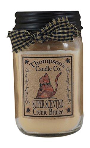 Thompson de vela Co Creme Brulee Mason Jar velas