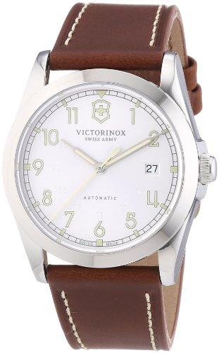 Victorinox Swiss Army 241566 - Reloj analógico automático para Hombre con Correa de Piel, Color marrón
