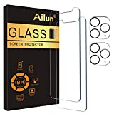 Ailun 2 Pack Screen Protector Compatible for iPhone 11 Pro Max[6.5 inch] + 2 Pack Camera Lens Protector,Tempered Glass Film,[9H Hardness] - HD
