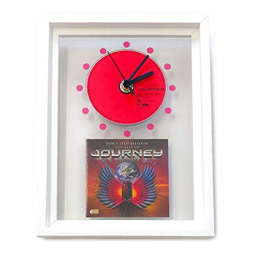 JOURNEY - Don't Stop Believin': FRAMED CD ART CLOCK/Exclusive Design