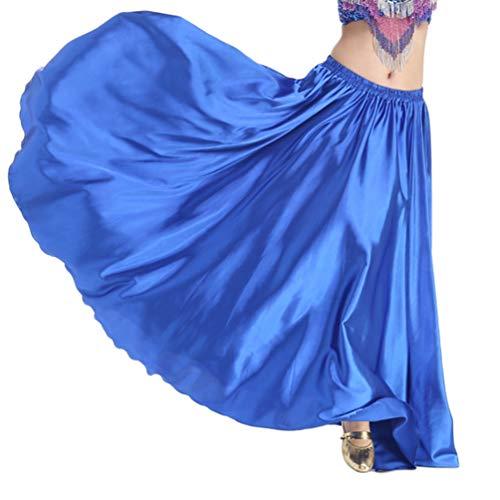 Tookang Grande Oscilación Esponjoso Danza del Vientre Danza Moderna Espectáculo Falda Larga