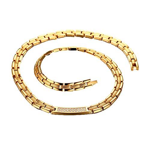 joyMerit Collar de Eslabones de Cadena Magnética de Titanio para Hombre, Alivio del