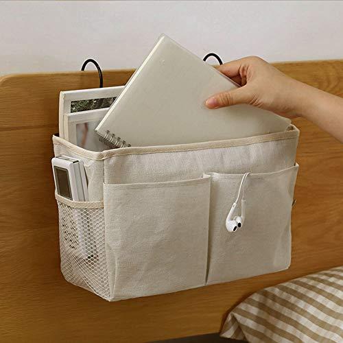 Colgando de noche bolsa de almacenamiento Pockets cama cestas Célula compartida Cama Organizador rack de almacenamiento dispositivo de Caddy, Caddy lado de la cama, mesita de noche Caddie bolsillo