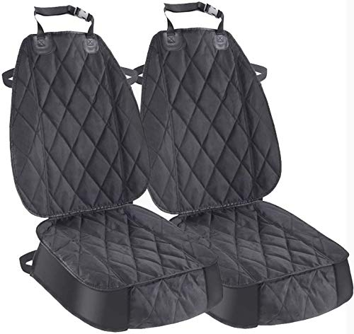 AsFrost Dog Seat Cover Cars Trucks SUVs, Thick 600D Heavy Duty Pets Car Seat Cover, Waterproof & Wear-Resistant Durable Nonslip Backing & Hammock Convertible - 2 PACK