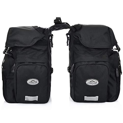 Lixada 50L Fahrradtasche Tasche wasserdichte Rücksitz Fahrradtasche Kofferraumtaschen Satteltasche mit Regenschutz Für Reise Camping