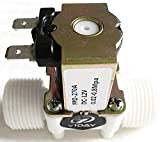 YIDAY DC12V 2-Way Normally Closed Valve Plastic Electric Solenoid Valves for Air Water (3/4 Inches)