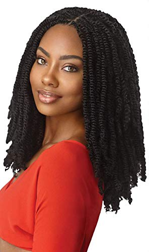 Outre Synthetic Braid X PRESSION TWISTED UP 2X SPRINGY AFRO TWIST 12 (5-Pack, 1B)