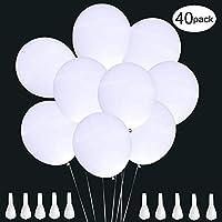 🎈【Langer Leuchtdauer】Hochwertige LED Luftballons bestehen aus 2 eingebaute AG3-Batterie , Entworfen für die Nacht-Party. , und in die ersten 4-5 Stunden ist das Licht am hellsten; Jeder Ballon kann bis 24 Stunden blinken. Led luftballons weiß ist ein...