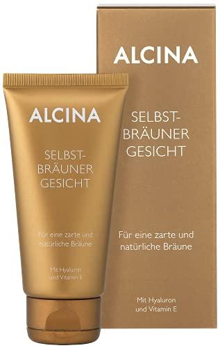 ALCINA Selbstbräuner Gesicht - Für eine zarte und natürliche Bräune - Mit Hyaluron und Vitamin E - 1 x 50 ml