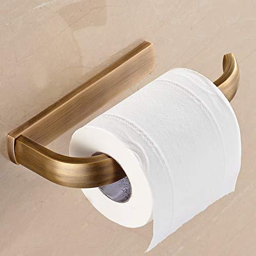 ZLJ Haushaltshalterung aus vergoldetem Messing, Kupfer, Fester Träger, Toilettenpapier, Toilettenpapierhalter, Toilettenpapier, Badezimmerzubehör
