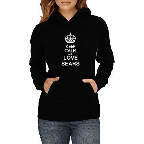 Idakoos Keep Calm and Love Sears Sudadera con Capucha para Mujer