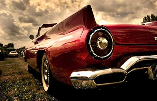 Papermoon Sepia Vintage Car Vlies Fotobehang 350x260cm 7-Banen
