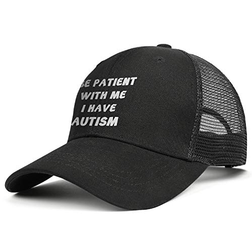 NIANLJHDe Unisex MenVintage Baseball Cap One Size Be Patient with Me I Have Autism Biking Dad Hat