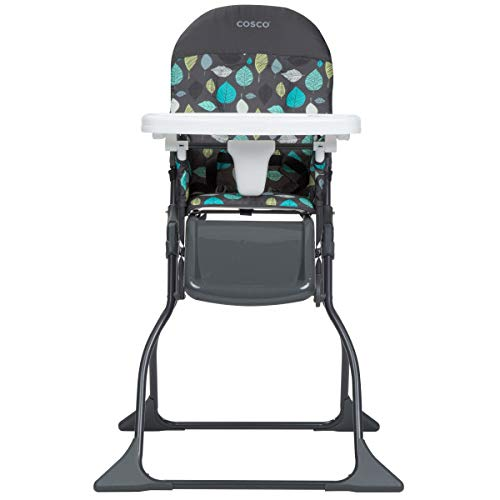 Cosco Simple Fold Full Size High Chair with Adjustable Tray, Seedling