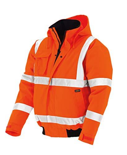teXXor 4119 Warnschutz-Pilotenjacke Whistler wasserdichte, winddichte Arbeitsjacke orange M, S